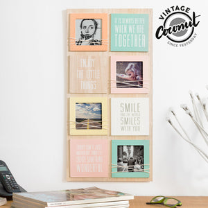 Porte-photos avec Messages Vintage Coconut (4 photos) | leadershopping.fr