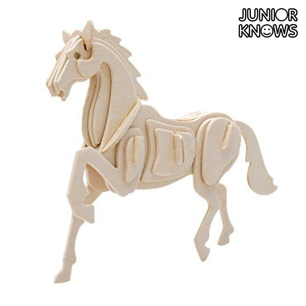 Puzzle 3D en Bois Animaux de la ferme Junior Knows