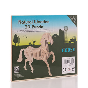 Puzzle 3D en Bois Animaux de la ferme Junior Knows | leadershopping.fr