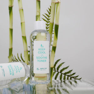 bamboo extract infused facial toner
