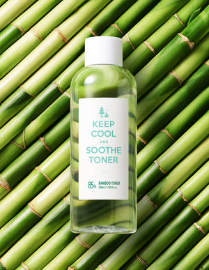 85% bamboo water infused facial toner