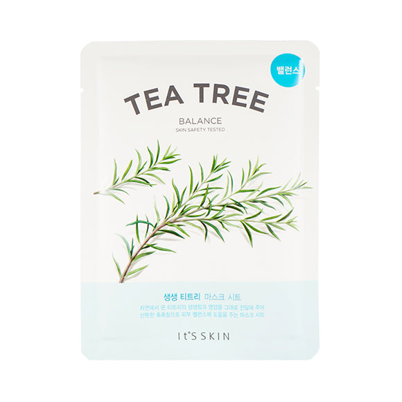 tea tree infused facial sheet mask for troubled skin