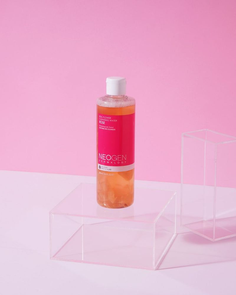 cleansing water infused with rose water for dry skin
