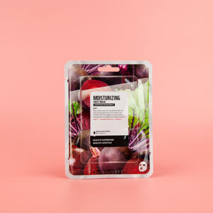 beet extract infused facial sheet mask