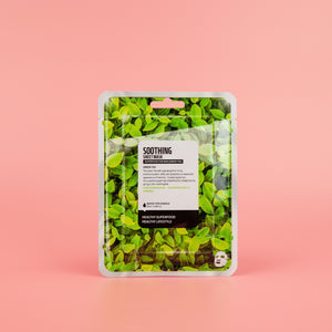 green tea infused facial sheet mask