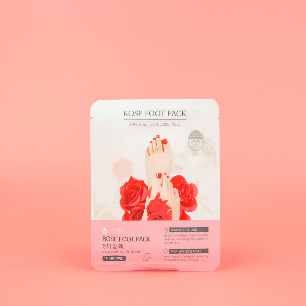 foot mask with rosehip oil extract to reduce dry calloused feet