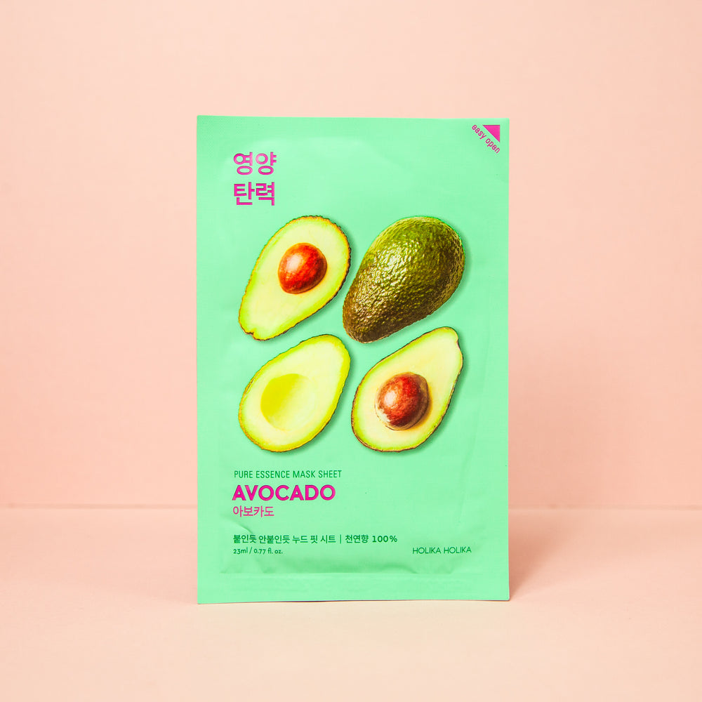 avocado extract infused facial sheet mask to give nourishment to skin