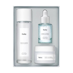 huxley hydration trio gift set for anti ageing and brightening