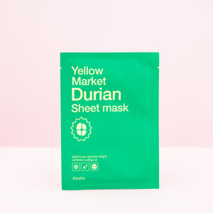 durian fruit extract infused facial sheet mask for clearer skin