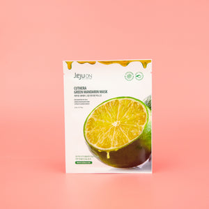 green mandarin fruit extract infused facial sheet mask for sensitive skin