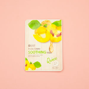 korean facial sheet mask from SNP with quince extract to nourish skin