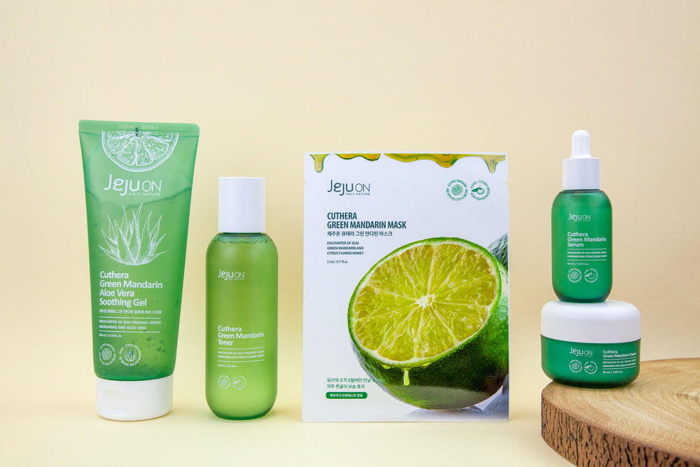full five step skincare set from jejuon korean skincare