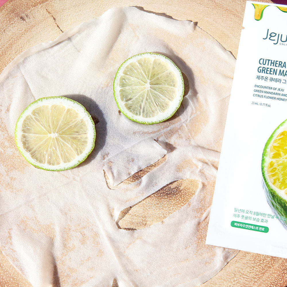 fruit and plant extract infused facial sheet mask for sensitive skin