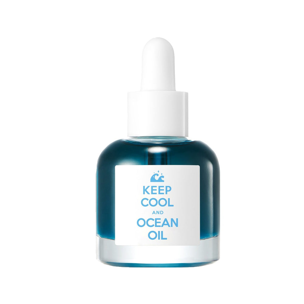 blue facial oil formulated with marine plants