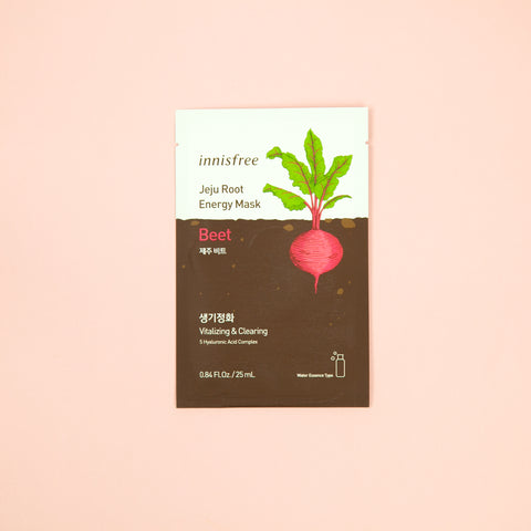 beet infused facial sheet mask from Jeju to nourish skin