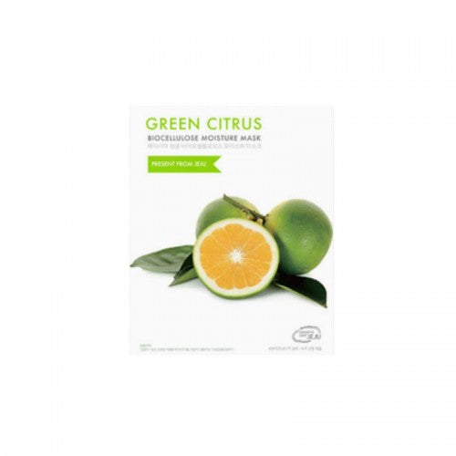 korean sheet mask containing vitamin c to promote collagen and hydration with green citrus fruit extracts