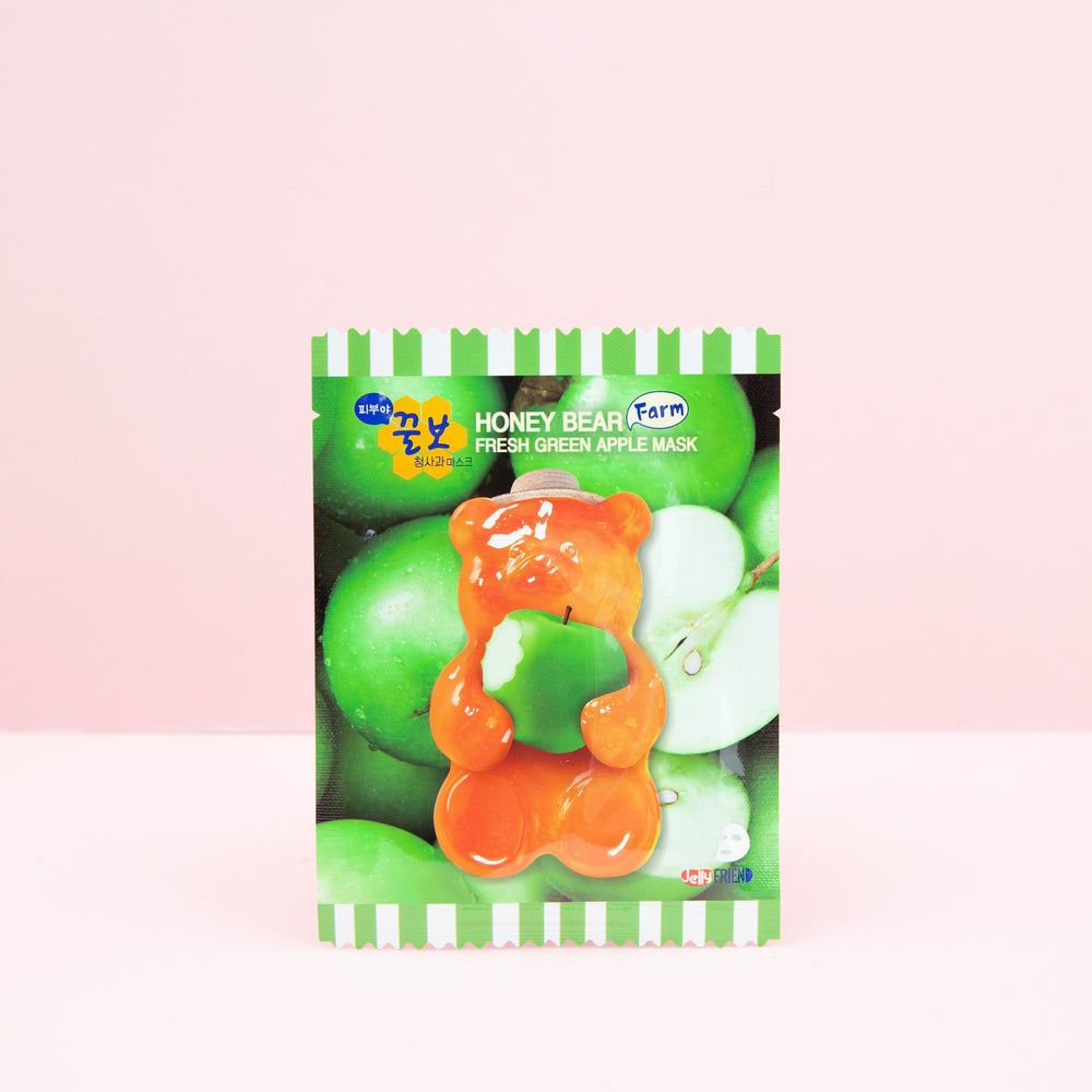 JELLY FRIEND Honey Bear Fresh Green Apple Mask