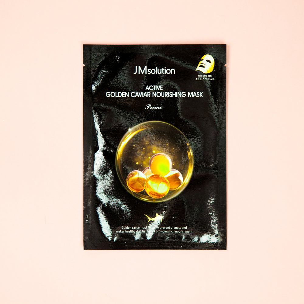 caviar extract infused facial sheet mask for mature skin