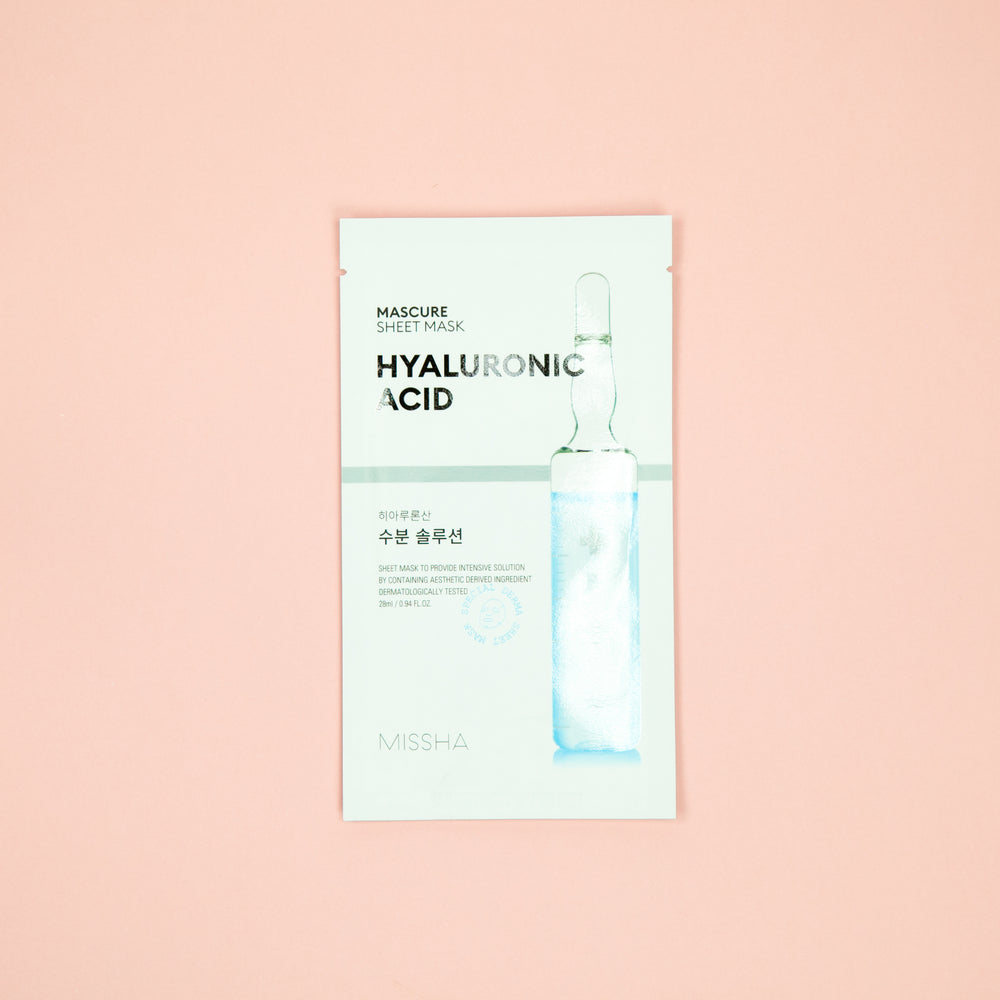 hyaluronic infused facial sheet mask for sensitive and damaged skin