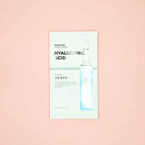 hyaluronic acid facial sheet mask for dry skin types