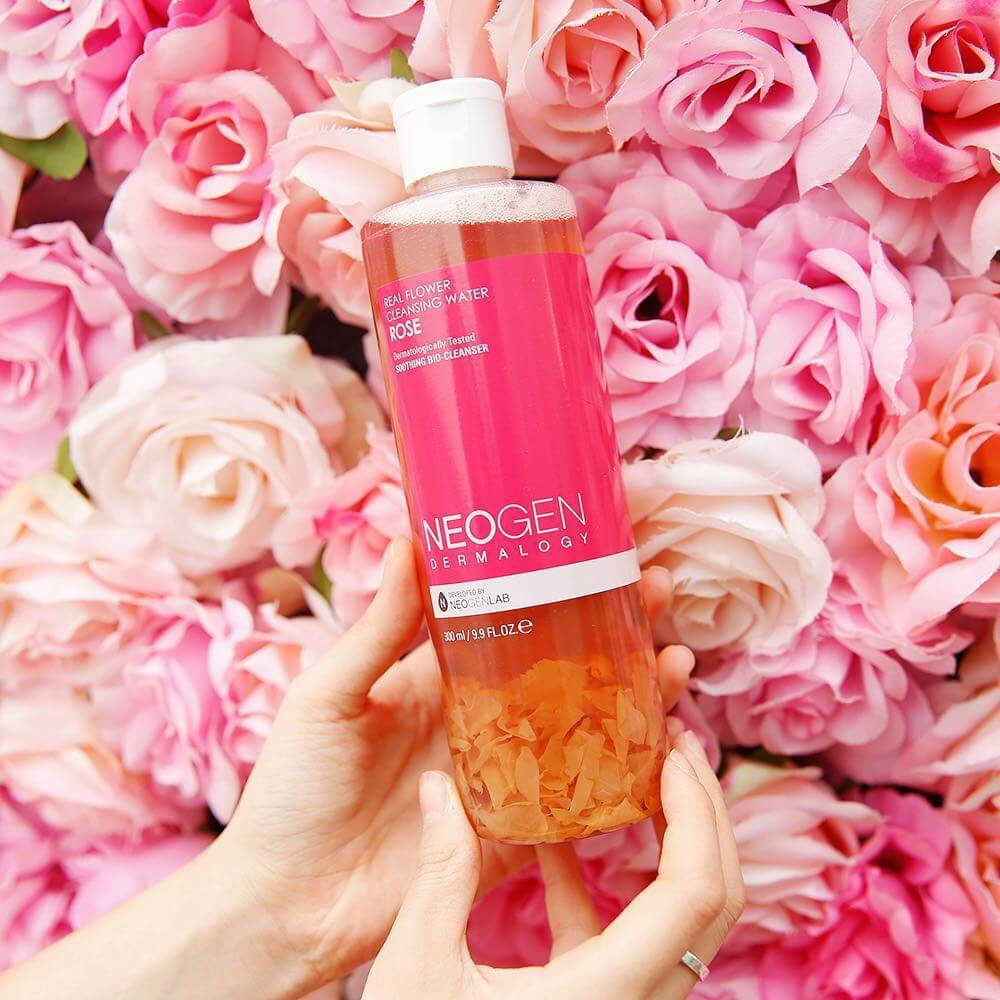 real rose petals with rose water toner