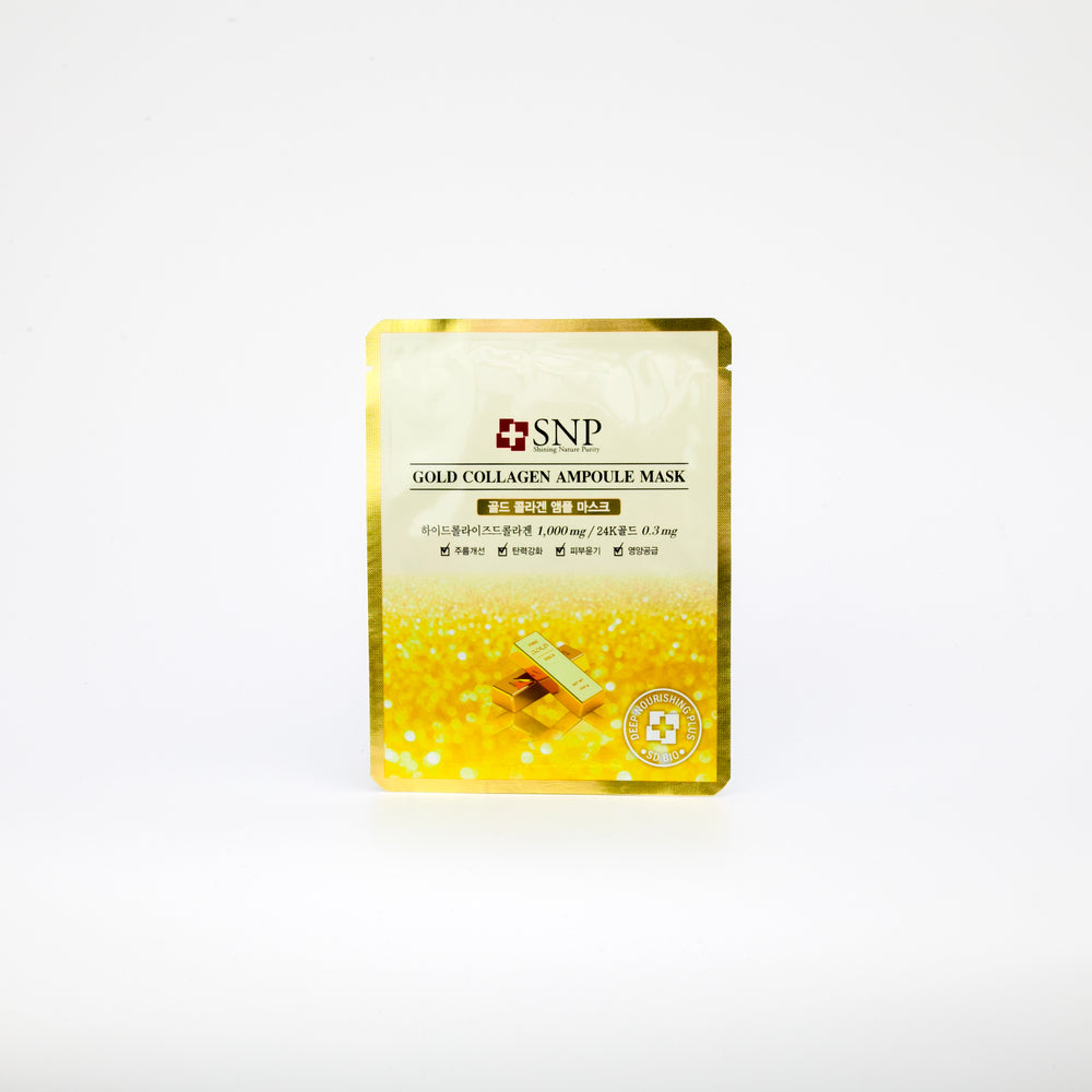 24k gold extract infused facial sheet mask with collagen to reduce wrinkles on the face