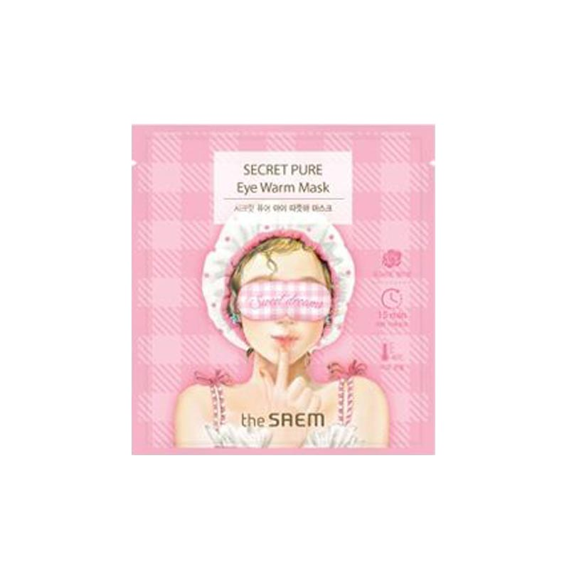 pink warming eye mask with rose scent from the saem