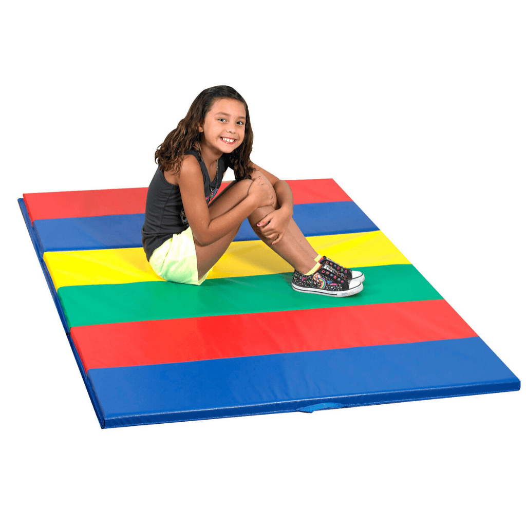 Children's Factory Rainbow Folding Gym Mat – 4'x6′