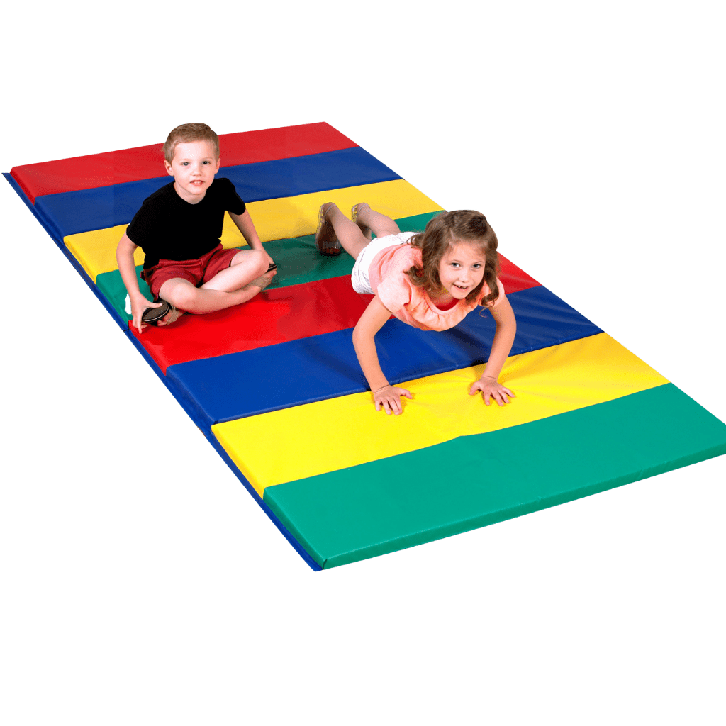 Children's Factory Rainbow Folding Gym Mat – 4'x8′