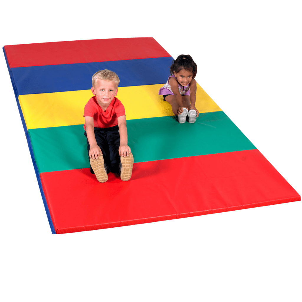 Children's Factory Rainbow Folding Gym Mat – 5'x10'