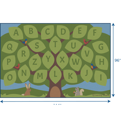 Children's Factory Alphabet Seating Tree Large Rectangular Rug