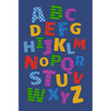 12' x 8' Alphabet Scramble Rectangular Rug