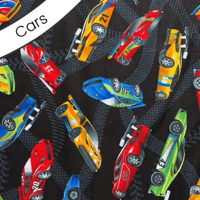 Weighted U-Shape Sensory Snuggle by Weighted Wearables Cars Fabric