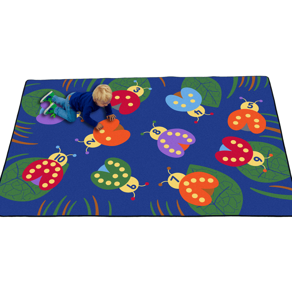 Counting with Lady Bugs Rectangular Rug