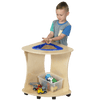 Children's Factory Triangular Shape Sensory Table with 10 lbs Kidfetti®