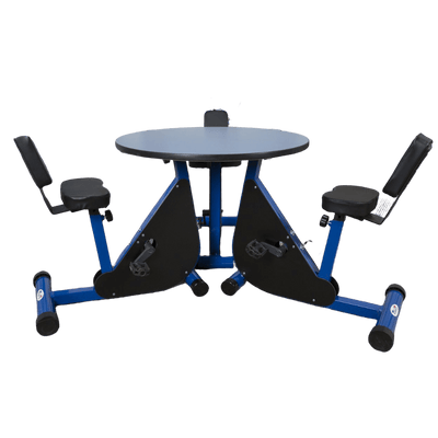 Three Person Round Pedal Desk