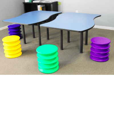 Kidsfit Kinesthetic Classroom Wave Table Set of 4
