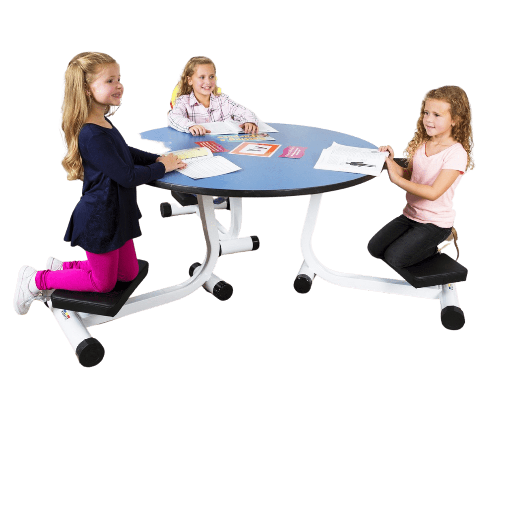 Three-Person Kneel 'n' Spin Student Desk