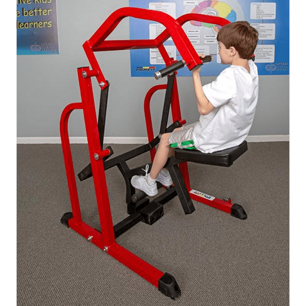 Youth Fitness Lat/Pull Up Exercise Machine with Wheels