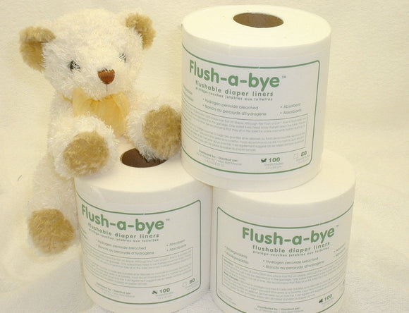 FLUSHABYE DISPOSABLE DIAPER LINERS