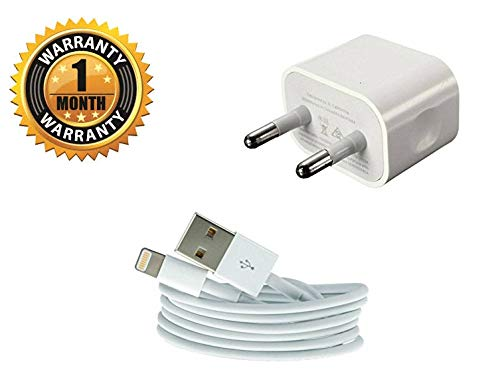 Hwire Power Charger Fast Charging Adapter with 8 Pin USB Cable for All iPhone (White)