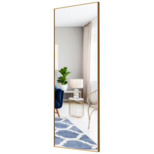 "59'' x 20"" Wall Mounted Full Length Mirror Large Rectangle Bedroom Floor Mirror"