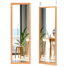 Load image into Gallery viewer, Wood Frame Full Length Hanging Mirror