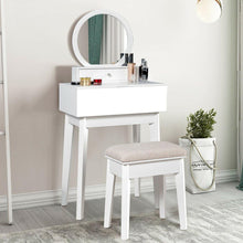 Load image into Gallery viewer, Makeup Dressing Wall Mounted Vanity Mirror with 2 Removable Drawers - Vanitiest