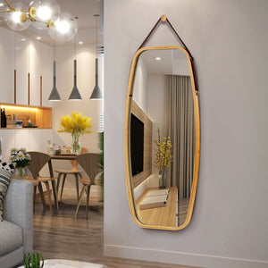 "39"" Modern Rectangle Wall Mounted Framed Full Length Mirror"