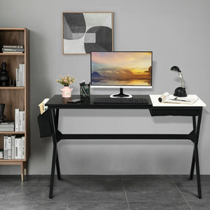 Writing Study Computer Desk with Drawer and Storage Bag for Bedroom Living Room - Vanitiest