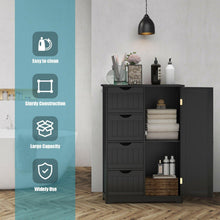 Load image into Gallery viewer, Wooden Freestanding Bathroom Floor Cabinet with 1 Door and 4 Drawers - Vanitiest