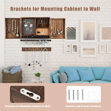 Load image into Gallery viewer, Rustic Wall Mounted Jewelry Organizer Cabinet with Wooden Barn Door - Vanitiest