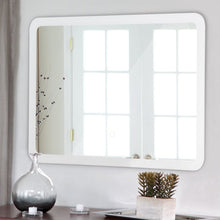 Load image into Gallery viewer, LED Lighted Wall Mounted Bathroom Rounded Arc Corner Mirror with Touch Button