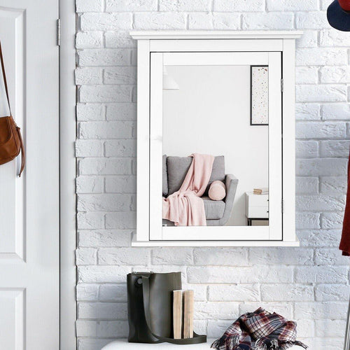 Bathroom Mirror Cabinet Wall-Mounted Adjustable Shelf Medicine Cabinet - Vanitiest